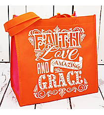 Faith Love Grace Orange Eco Tote #23800