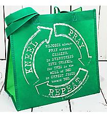 Kneel Pray Repeat Green Eco Tote #23930