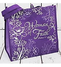 Hebrews 11:1 'Women of Faith' Purple Eco Tote #23931