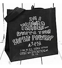I'm a Teacher... Black Eco Tote #23932