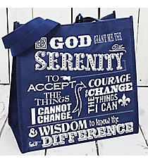 Serenity Prayer Navy Eco Tote #23933en Eco Tote #23930