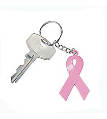 1 Pink Ribbon Key Chain #24/1670