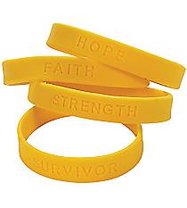 24 Yellow Awareness Sayings Bracelets #24/1950