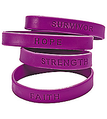 24 Purple Awareness Sayings Bracelets #24/1953