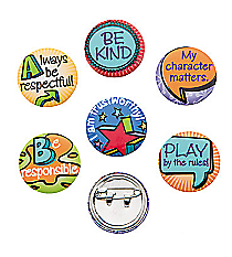 48 Good Character Mini Buttons #24/2641