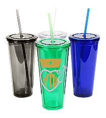 Nurse Monogram 24 oz. Double Wall Tumbler with Straw #WA334005 *Choose Your Colors