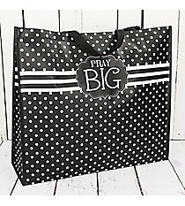 Black and White Polka Dot 'Pray Big' Large Eco Tote #24020