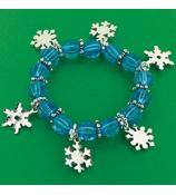 3 Snowflake Charm Bracelets #24/1698