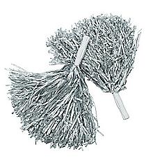 12 Silver Pom Poms #25/1542