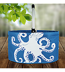 Ocean Blue Octopus Collapsible Market Basket #25949-OCTOPUS