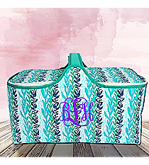 Multi-Blue Ocean Ivy Insulated Basket with Lid #25950-IVY