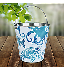 Sea Life Themed Tin Bucket #25965