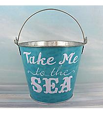 """Take Me to the Sea"" Tin Bucket #25966-SEA"