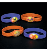 One Dozen Halloween Flashing Bracelets #8E-25/5225