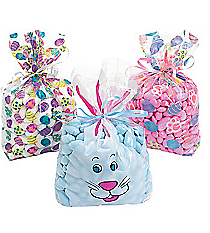 36 Cellophane Easter Print Goody Bags #26/14140