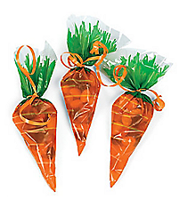 72 Cellophane Carrot-Shaped Goody Bags #26-1415-P