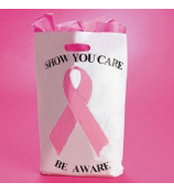 "50 ""Show You Care-Be Aware"" Pink Ribbon Bags #26/2261"