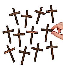 12 Mini Wooden Crosses #27/468