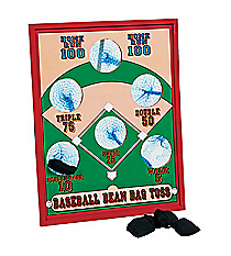 One Wooden Baseball Bean Bag Toss Game #27/943-D