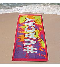 #Vacay Velour Beach Towel #27118