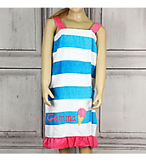 Girl's Striped Ice Cream Spa Wrap *Choose Your Size