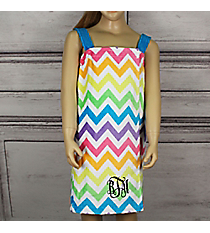 Girl's Rainbow Chevron Spa Wrap *Choose Your Size