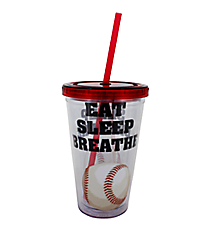 Eat Sleep Breathe Baseball 17 oz. Double Wall Tumbler with Straw #2AC0062