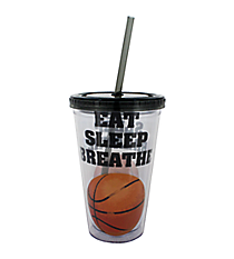 Eat Sleep Breathe Basketball 17 oz. Double Wall Tumbler with Straw #2AC0063