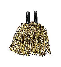 12 Metallic Gold Pom Poms #3/256