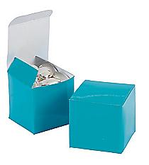 24 Mini Turquoise Gift Boxes #3/2608
