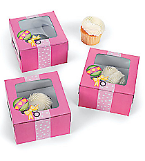 12 Baby Girl Shower Cupcake Boxes #3/2816