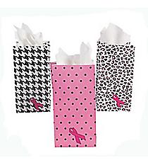2 Dozen Pink Ribbon Treat Bags #3/3178