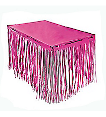 One Pink Foil Fringe Tableskirt #3/3188