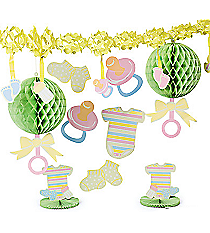10 Piece Bright Baby Shower Decorating Kit #3/3267