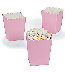 24 Mini Light Pink Popcorn Boxes #3/5351