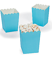 24 Mini Light Blue Popcorn Boxes #3/5353