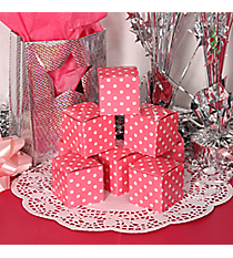 12 Candy Pink Polka Dot Gift Boxes #3/6163
