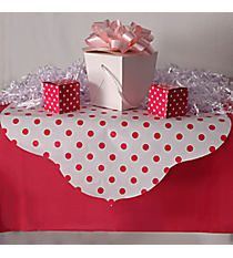 Hot Pink Reversible Stripe and Polka Dot Table Runner #3/6287