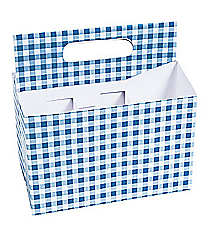 1 Blue Gingham Tableware Caddy #3/7321