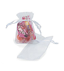 50 White Mini Drawstring Bags #3/745