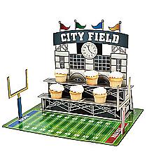 1 Large Football Stadium Cupcake Holder #3/7588