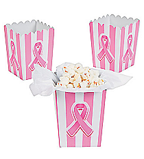 24 Mini Pink Ribbon Popcorn Boxes #3/8067