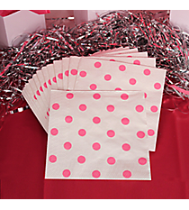 Pack of 16 Candy Pink Polka Dot Beverage Napkins #3/8085