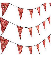 1 Red Bandana Print Pennant Banner #3/8748