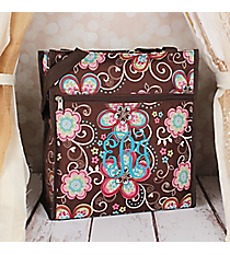 Flower Bliss Brown Shopper Tote #TH3013-161
