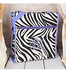 Zebra Shopper Tote with Purple Trim #PH3013-163-PP