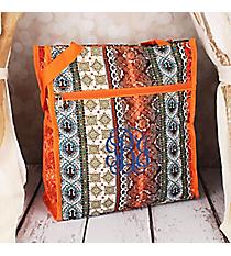 Bohemian Spirit with Orange Trim Shopper Tote #PH3013-648-OR