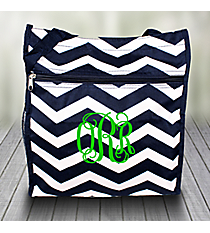 Navy and White Chevron Shopper Tote #TH3013-165-N/W