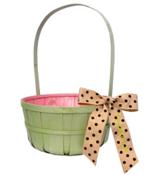 SALE! Green Split Wood Basket #9711428