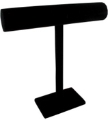 "12"" Single Bar Jewelry Display in Black #JW012BK"